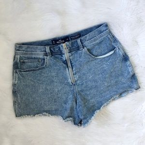 Hollister Light Wash High Waisted Jean Shorts